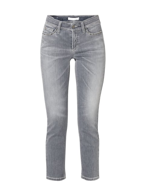 36a5e589d974 Cambio Stone Washed Cropped Slim Fit Jeans Grau   Schwarz - 1 ...