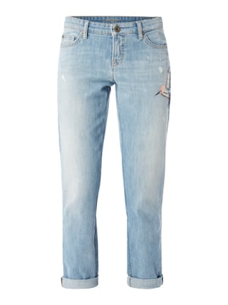 Stone Washed Leisure Fit 5-Pocket-Jeans Blau / Türkis - 1