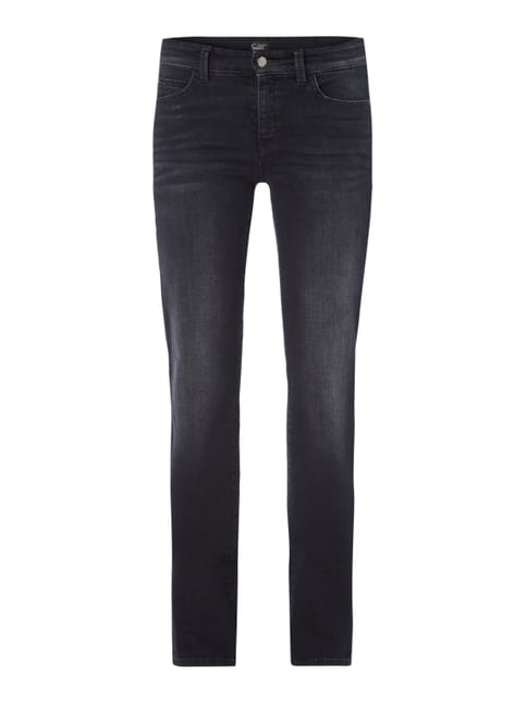 Stone Washed Regular Fit Jeans mit Ziersteinen Grau / Schwarz - 1