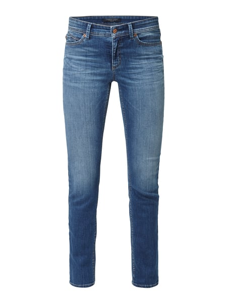 Cambio Parla - Stone Washed Skinny Fit Jeans Hellblau