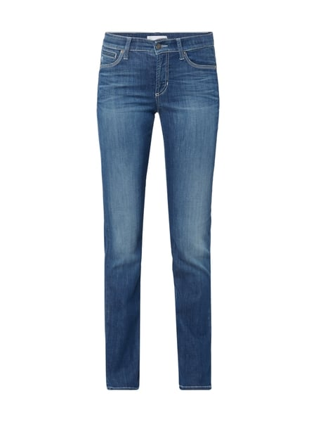 Cambio Piper Seam Long - Stone Washed Slim Fit Jeans Jeans