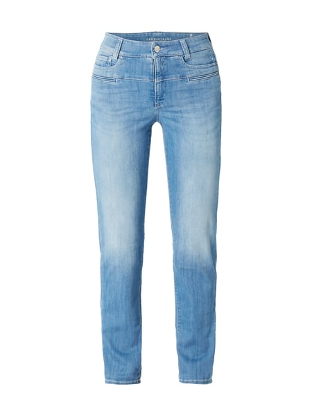 Cambio Pearlie - Stone Washed Slim Fit Jeans mit Zierpaspeln Jeans
