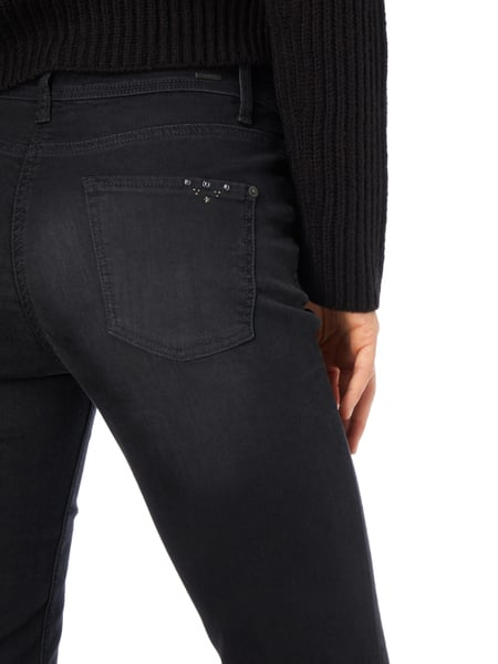 cambio stone washed slim fit jeans in grau schwarz. Black Bedroom Furniture Sets. Home Design Ideas