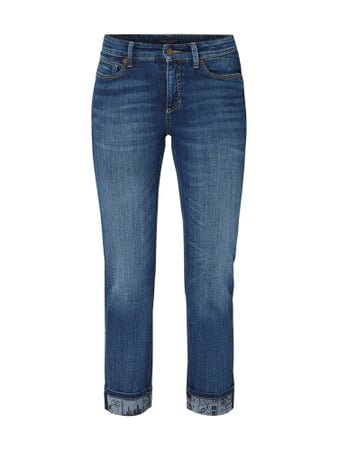 Cambio Stone Washed Straight Fit Jeans Blau - 1