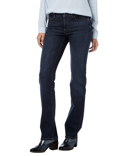 Cambio Stone Washed Straight Fit Jeans mit Zierketten Jeans - 1