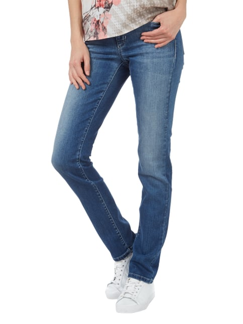 Cambio Straight Fit Jeans im Used Look Jeans - 1