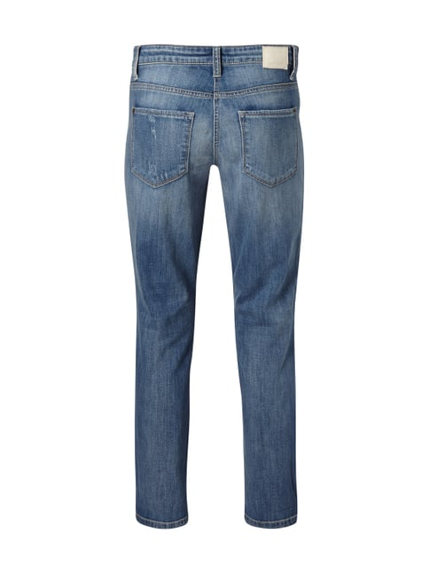 Cambio Straight Fit Jeans im Used Look Türkis - 1