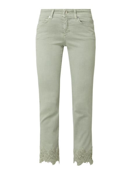 Cambio Straight Fit Jeans mit Stretch-Anteil Grün - 1