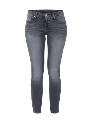 Super Slim Fit Jeans im Used Look Gelb - 1