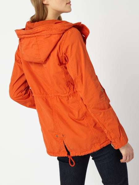 camel active parka aus reiner baumwolle in orange online kaufen 9780152 p c online shop. Black Bedroom Furniture Sets. Home Design Ideas