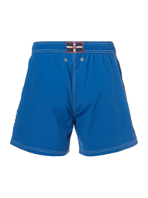 Camp David Badeshorts mit Logo-Stickerei Royalblau - 1