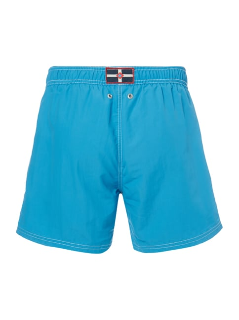 Camp David Badeshorts mit Logo-Stickerei Türkis - 1