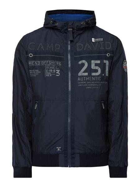 Camp David Blouson mit Kapuze Blau - 1