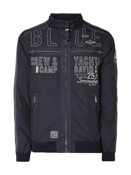 Camp David Blouson mit Logo-Details Marineblau