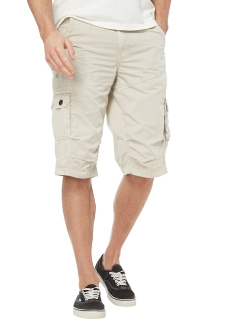 Camp David Cargobermudas im Washed Out Look Beige - 1
