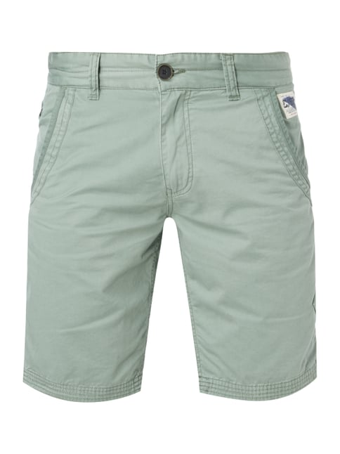 Chinoshorts im Washed Out Look Grün - 1