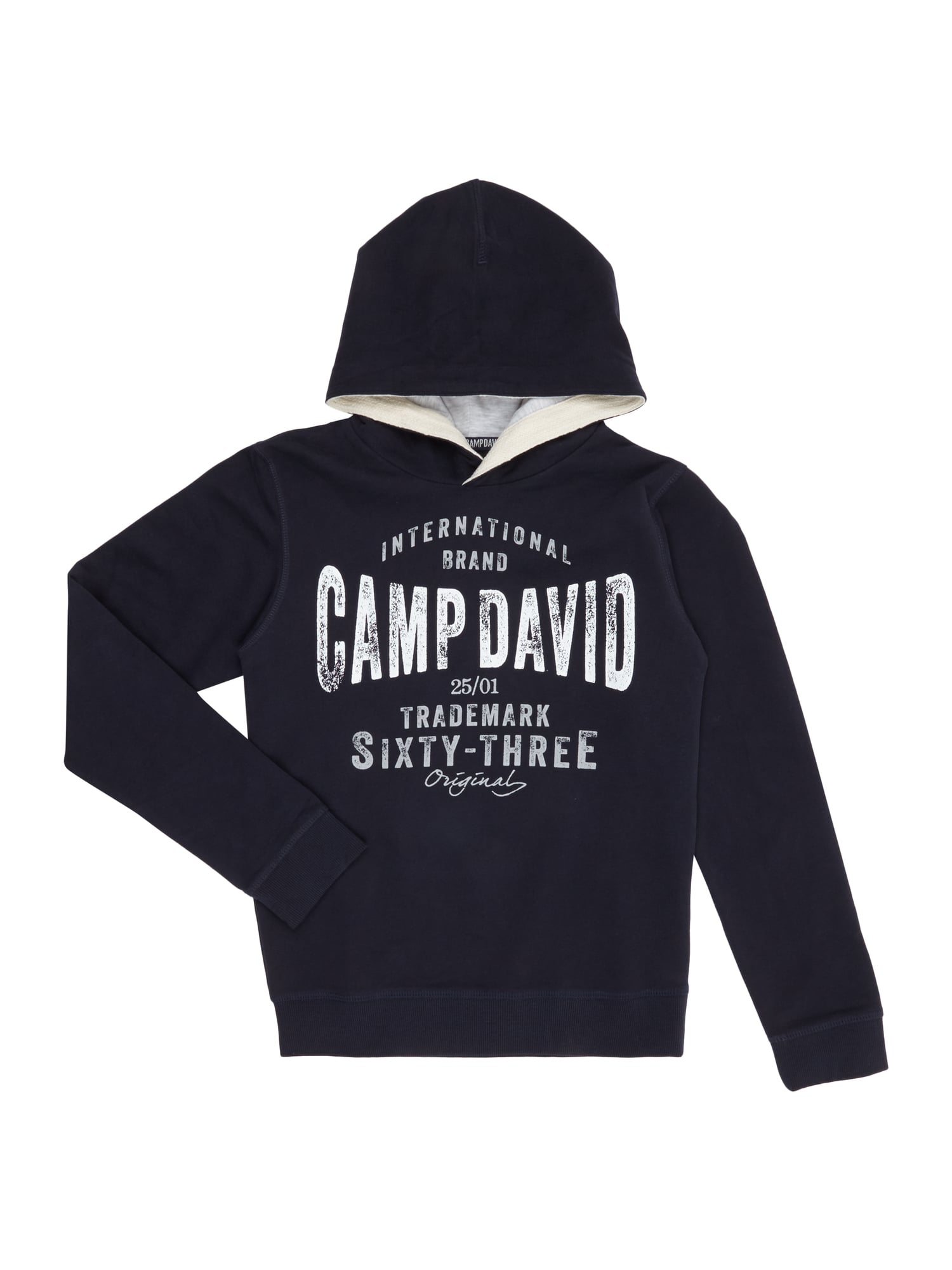 camp david hoodie mit label print in blau t rkis online kaufen 9590199 p c online shop. Black Bedroom Furniture Sets. Home Design Ideas