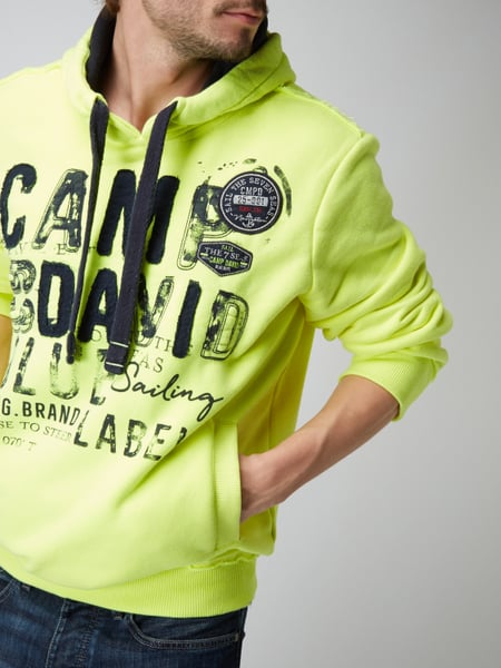 camp david hoodie mit logo details in gelb online kaufen 9739784 p c online shop sterreich. Black Bedroom Furniture Sets. Home Design Ideas