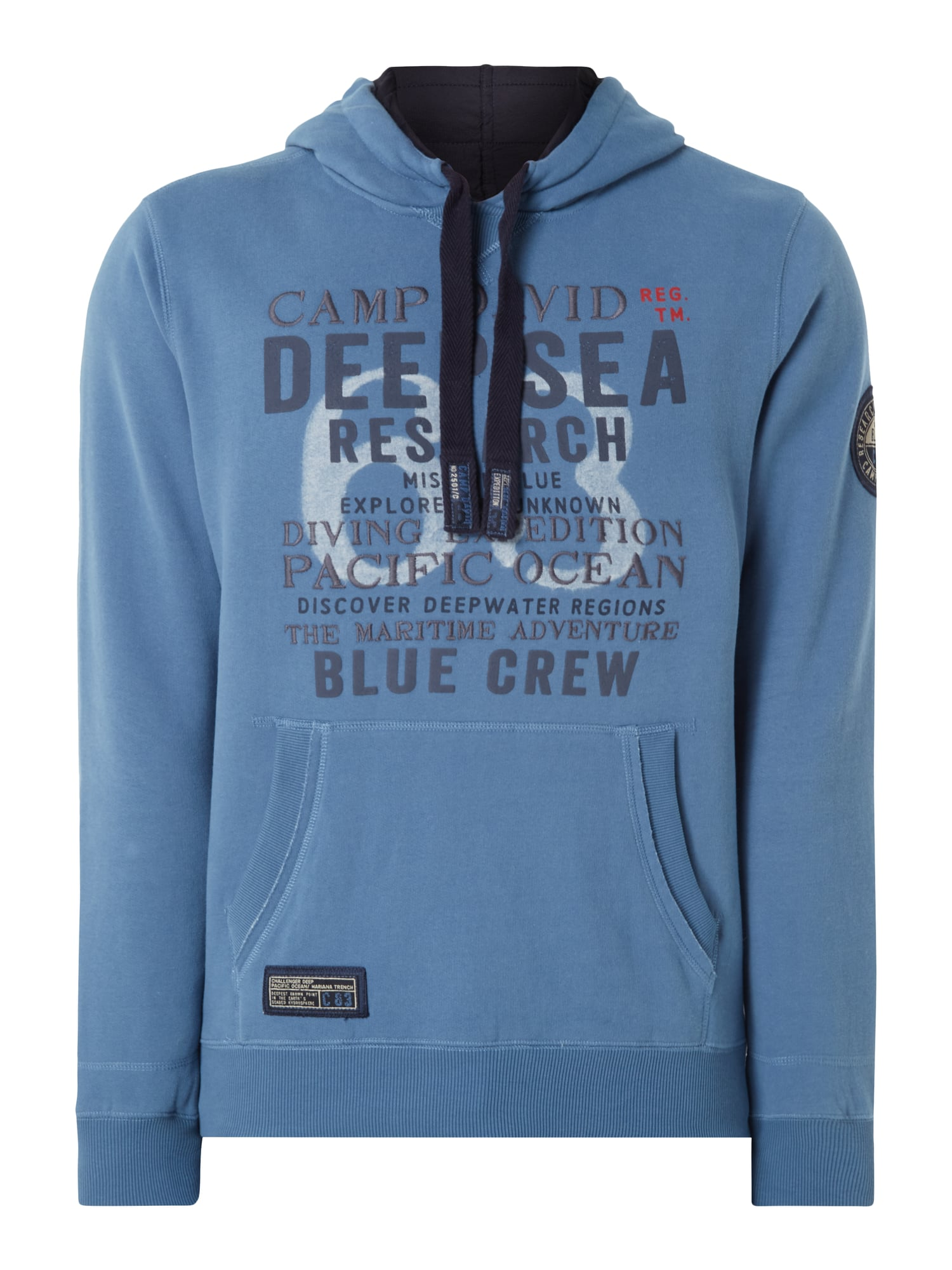 camp david hoodie mit logo details in blau t rkis online kaufen 9681327 p c online shop. Black Bedroom Furniture Sets. Home Design Ideas