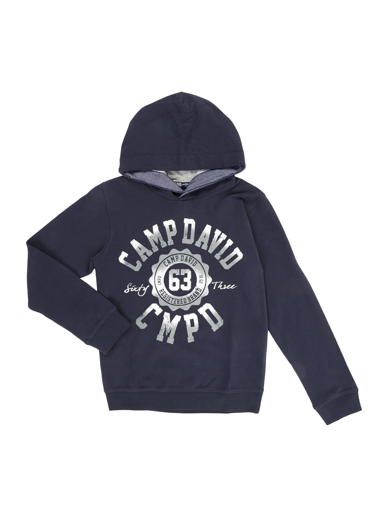 camp david hoodie mit logo print in blau t rkis online kaufen 9704849 p c online shop sterreich. Black Bedroom Furniture Sets. Home Design Ideas