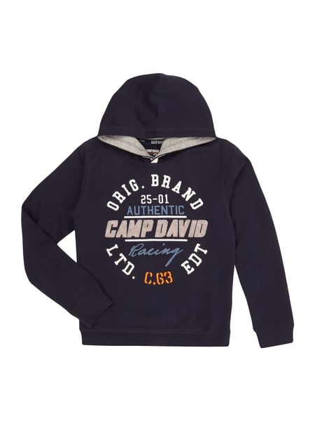 camp david hoodie mit logo print und stickereien in blau t rkis online kaufen 9737420 p c. Black Bedroom Furniture Sets. Home Design Ideas