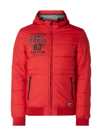 Camp David Jacke mit Kapuze Rot - 1