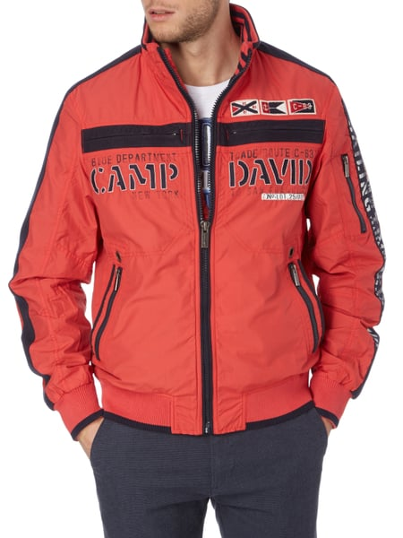 camp david jacke mit logo details in rot online kaufen. Black Bedroom Furniture Sets. Home Design Ideas