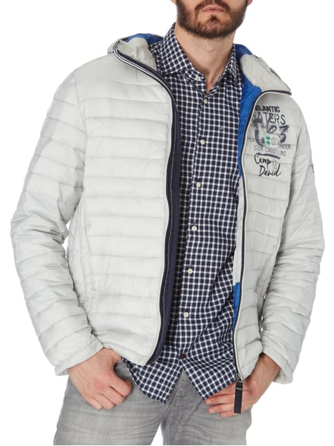 Camp David Light-Steppjacke mit Kapuze - wattiert Hellgrau - 1