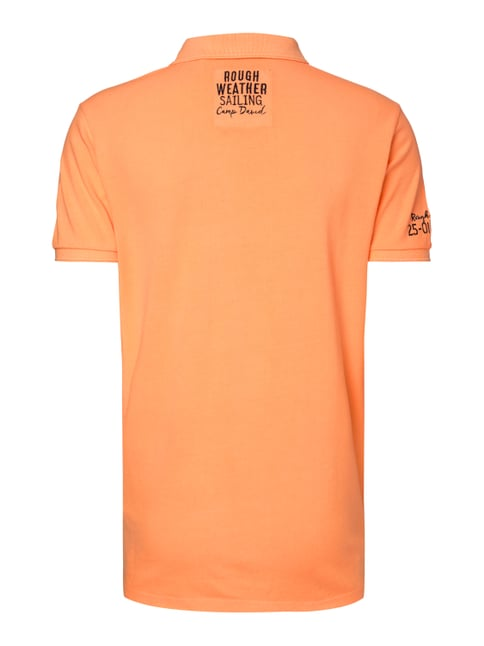 Camp David Poloshirt mit Logo-Applikationen Neon Orange - 1