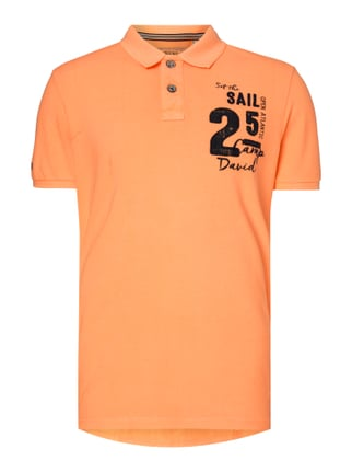 Poloshirt mit Logo-Applikationen Orange - 1
