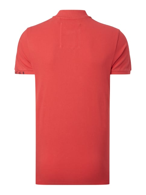 Camp David Poloshirt mit Logo-Stickereien Rot - 1