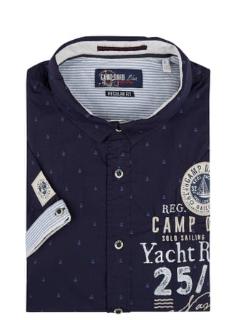 Camp David Regular Fit Freizeithemd aus Baumwolle Blau - 1