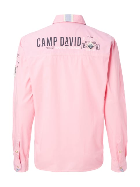 Camp David Regular Fit Freizeithemd mit extralangem Arm Pink - 1