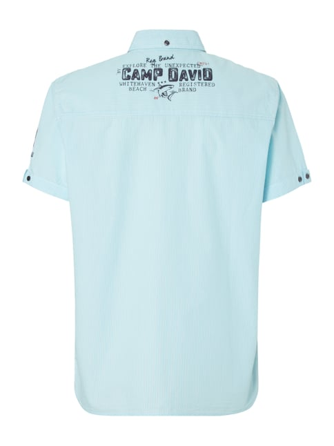 Camp David Regular Fit Freizeithemd mit kurzem Arm Aqua Blau - 1