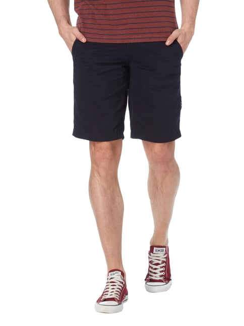 Camp David Shorts mit Ziernähten Marineblau - 1