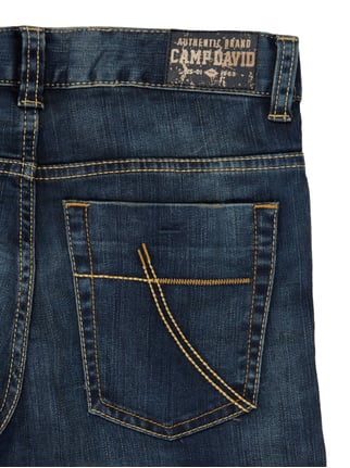 Skinny Fit 5-Pocket-Jeans im Destroyed Look Camp David online kaufen - 1
