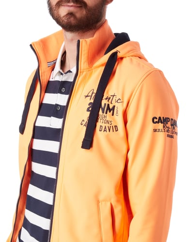 camp david softshell blouson mit kapuze in orange online. Black Bedroom Furniture Sets. Home Design Ideas