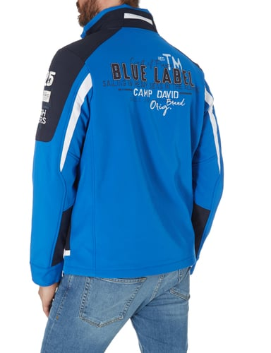 camp david softshell jacke im mehrfarbigen design in blau. Black Bedroom Furniture Sets. Home Design Ideas