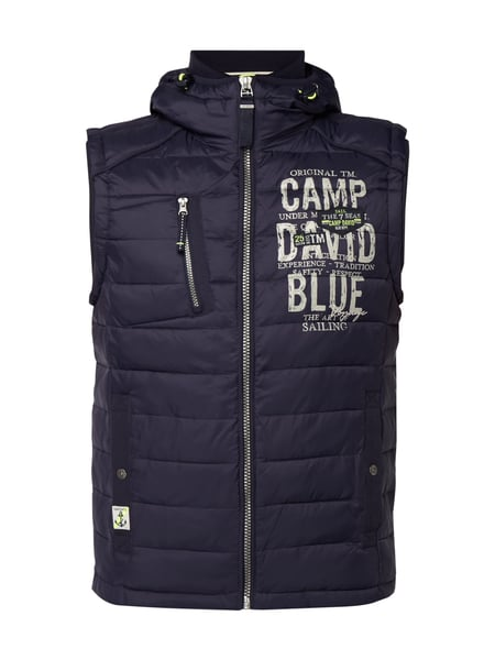 Camp David Steppweste mit Kapuze - wattiert Marineblau