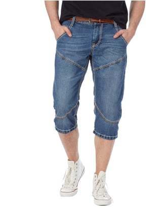 Camp David Stone Washed Caprijeans mit Ziernähten Jeans - 1