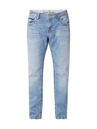 Camp David Stone Washed Comfort Fit Jeans mit Kontrastnähten Blau / Türkis - 1