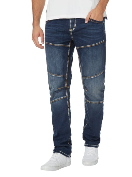 camp david stone washed straight fit jeans in blau. Black Bedroom Furniture Sets. Home Design Ideas