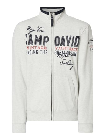 Camp David Sweatjacke mit Logo-Applikationen Weiß - 1