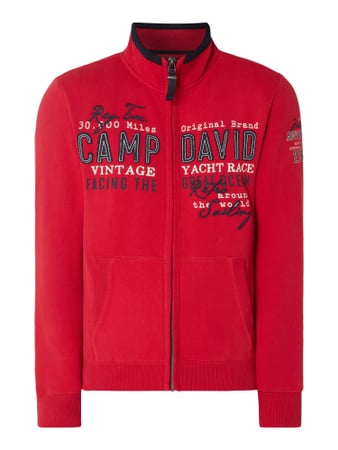 Camp David Sweatjacke mit Logo-Applikationen Rot - 1