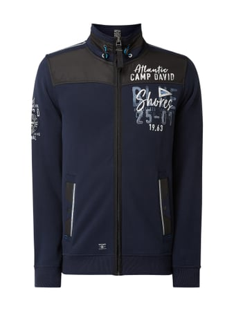 Camp David Sweatjacke mit Logo-Details Blau - 1
