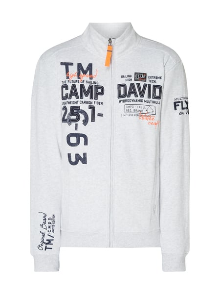 Camp David Sweatjacke mit Logo-Details Silber - 1
