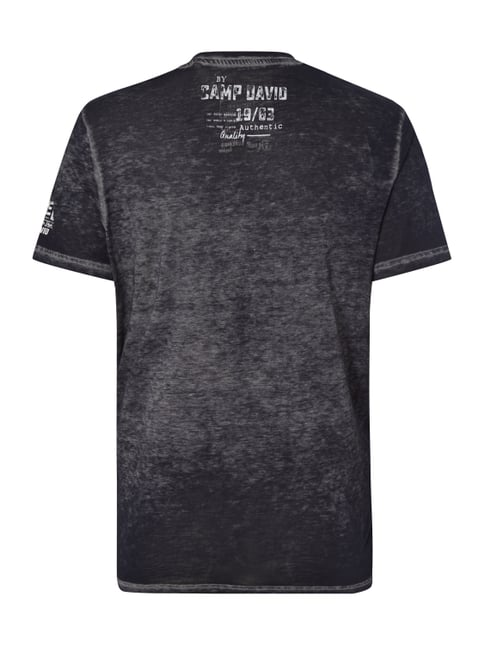 Camp David T-Shirt im Washed Out Look Marineblau - 1
