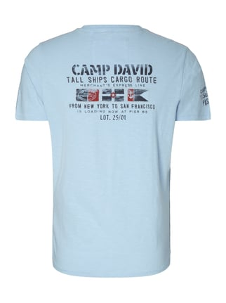 Camp David T-Shirt mit Logo-Details Hellblau - 1