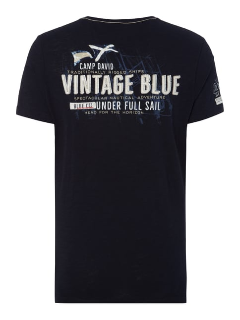 Camp David T-Shirt mit Logo-Prints Marineblau - 1