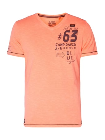 Camp David T-Shirt mit Logo-Prints Orange - 1